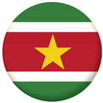 Surinam Country Flag 58mm Button Badge